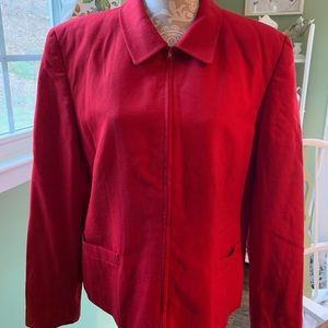 Talbots red 16 💯 Wool jacket